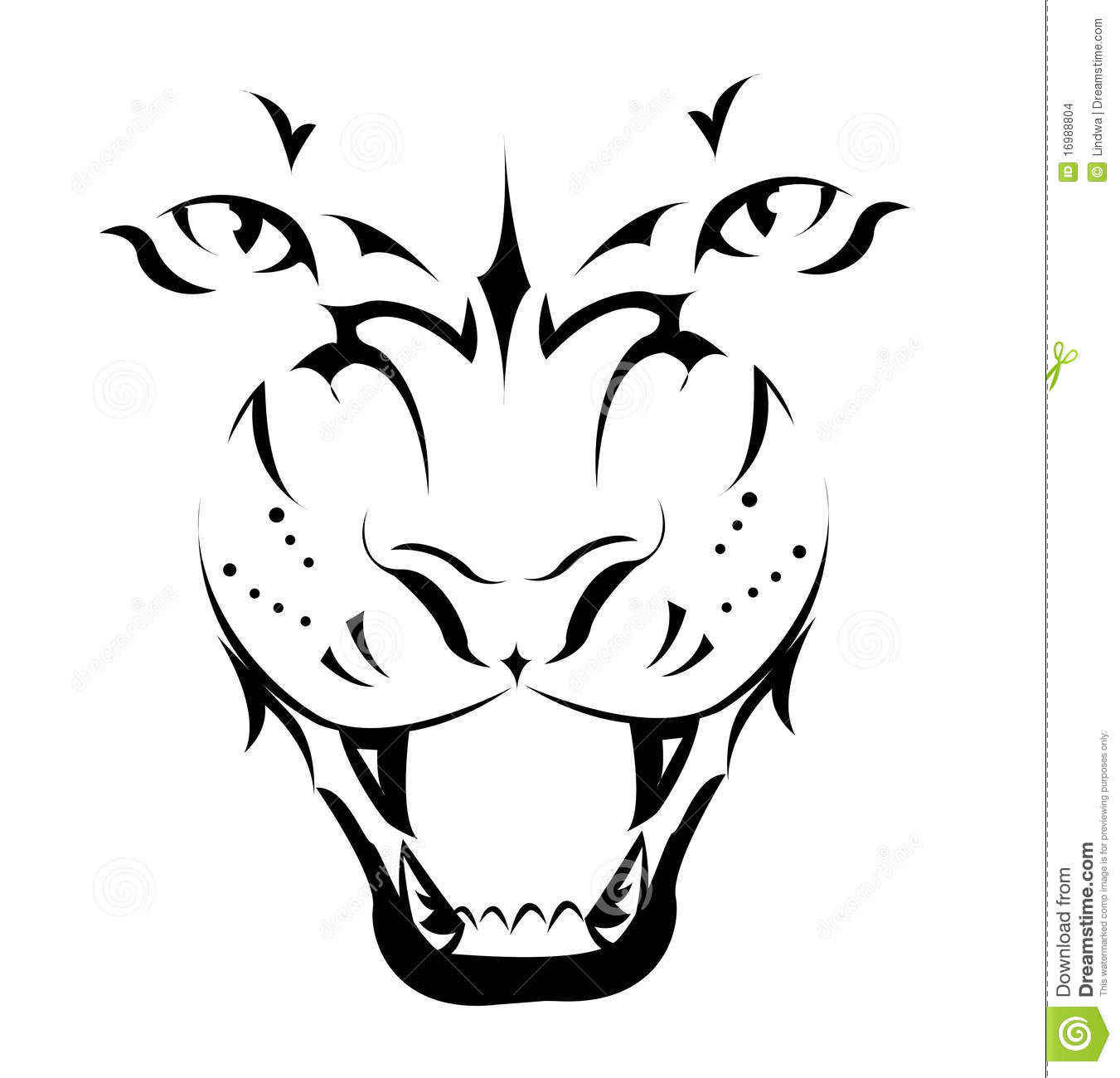 Tiger, Tattoo Stock Images - Image: 16988804