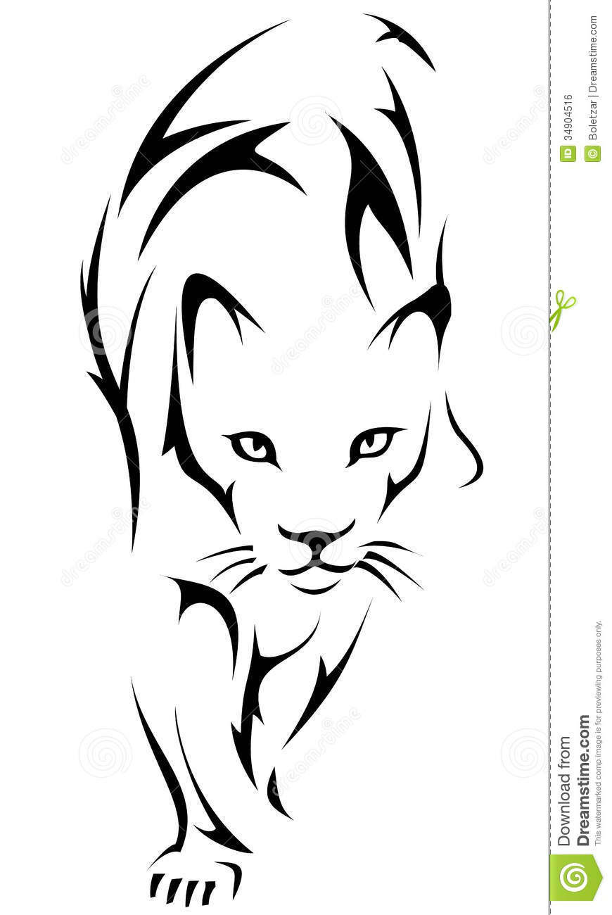 Tiger Tattoo Logo Royalty Free Stock Image - Image: 34904516