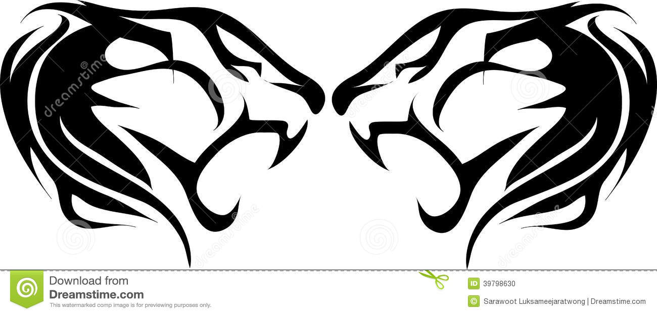 Tiger head logo design - photo#12
