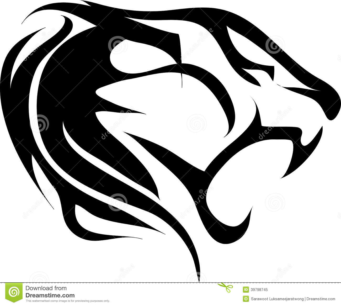Tiger head logo design - photo#19