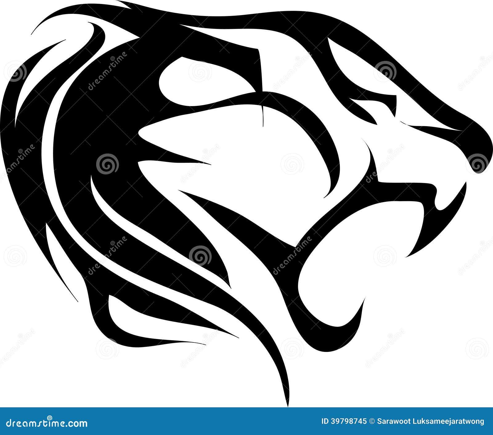 tiger tattoo vintage stock vector illustration of vintage 39798745. Black Bedroom Furniture Sets. Home Design Ideas