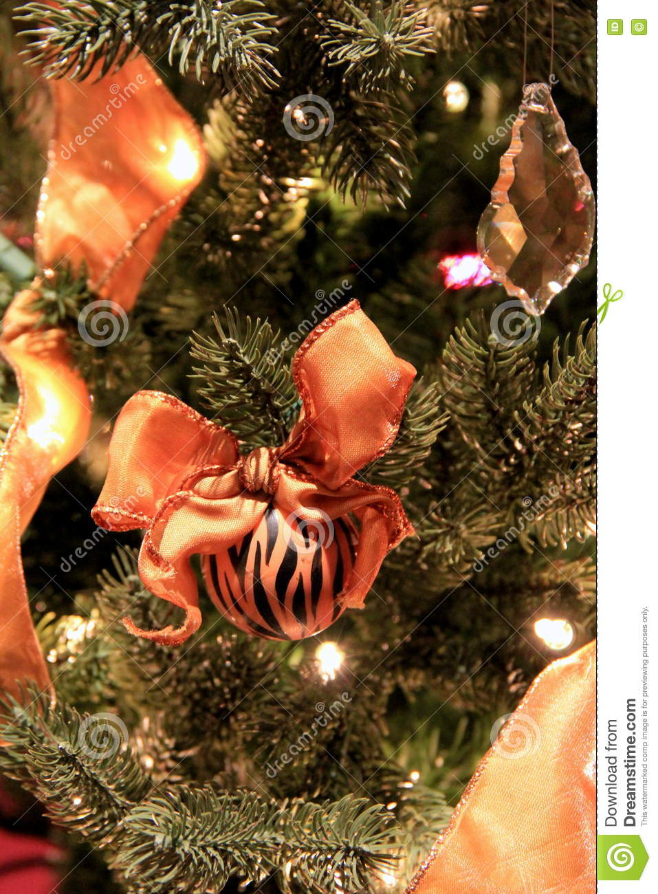 tiger themed christmas tree