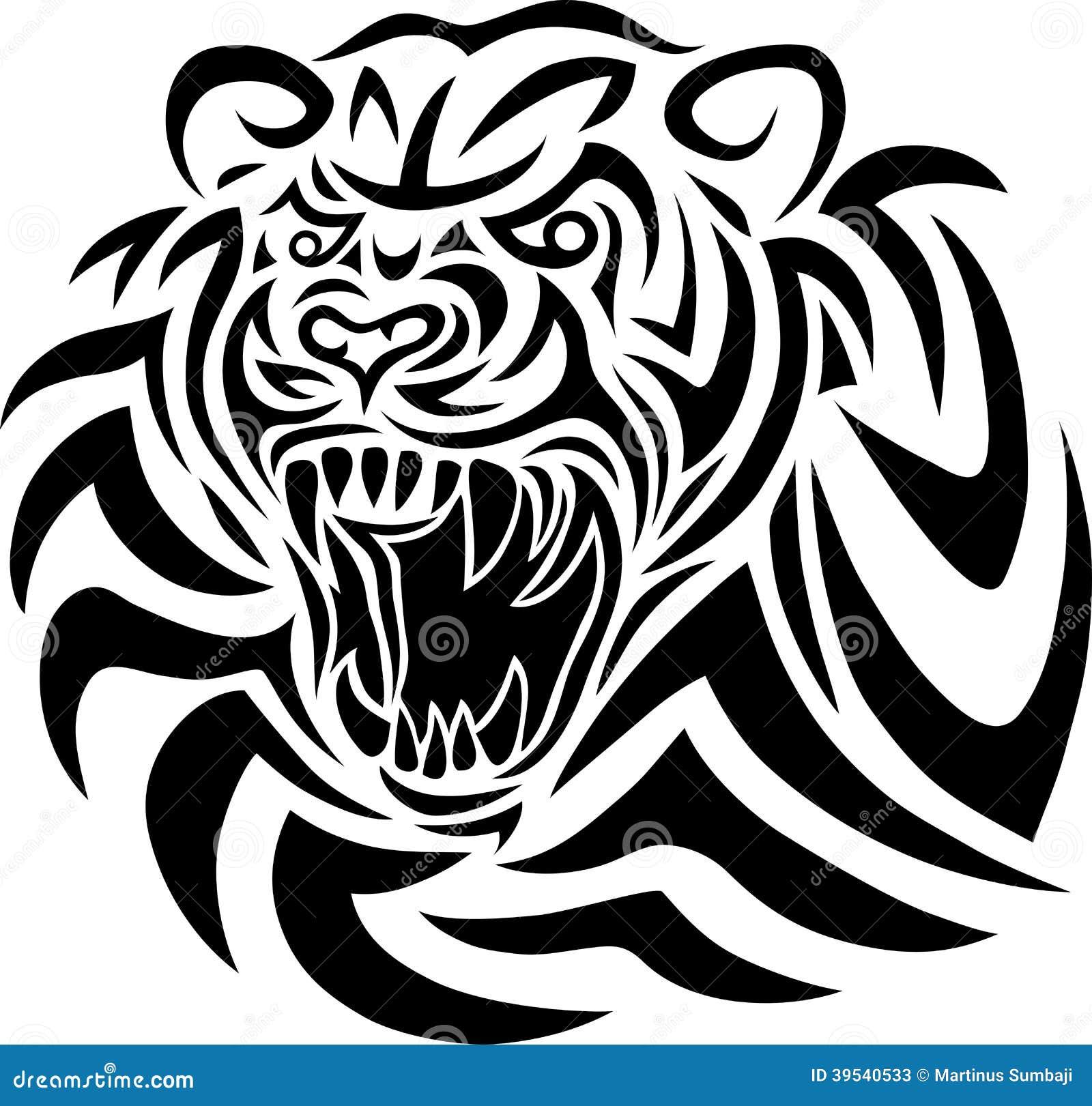 Tribal Tiger Face Tattoos Iwate Kokyo