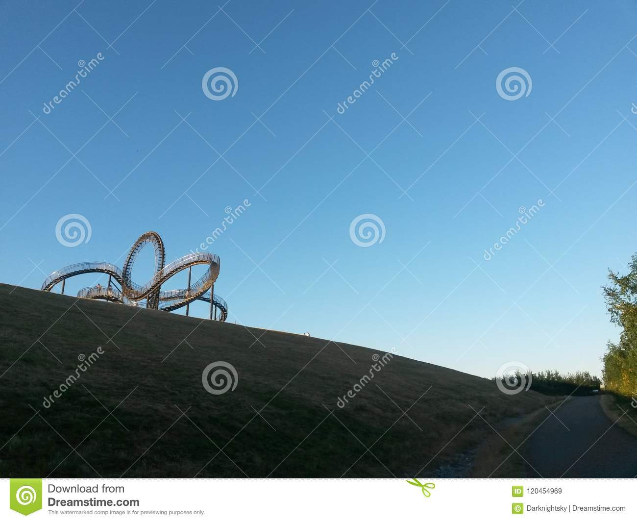 Tiger and Turtle Duisburg editorial stock image. Image of summer ...