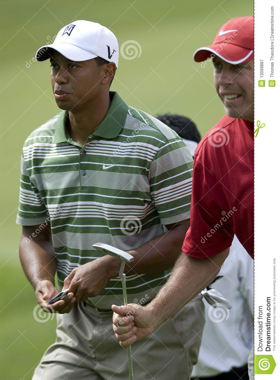 Tiger Woods editorial photography  Image of caddy, steve - 13099887