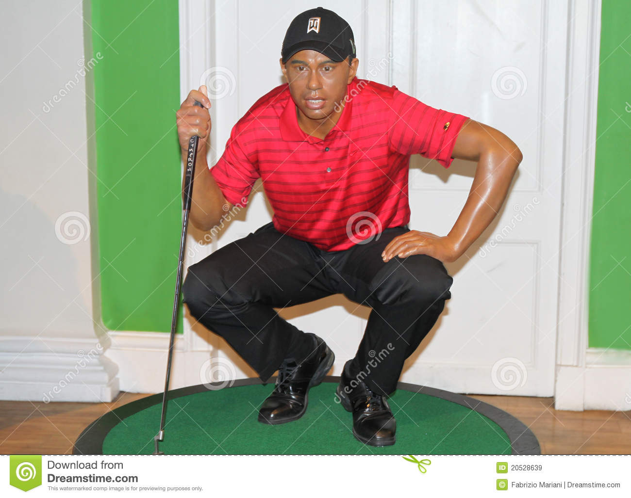 6d7ebe70f Tiger Woods At Madame Tussaud's Editorial Stock Image - Image of ...