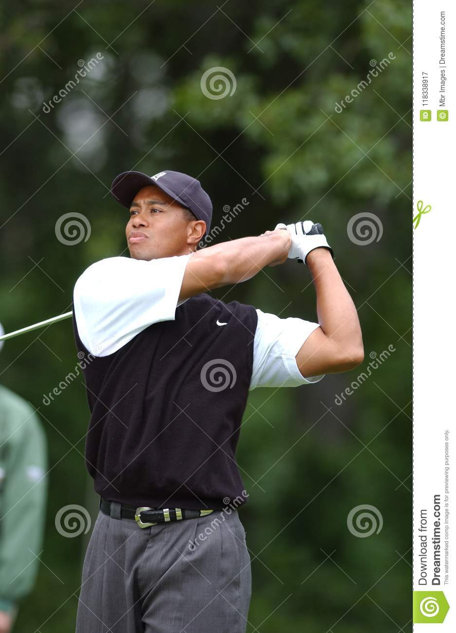 Tiger Woods Professional Golfer Editorial Photography ...