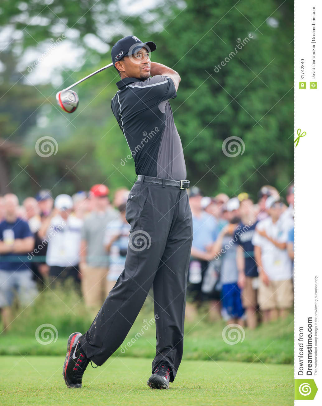 Tiger Woods przy 2013 us open