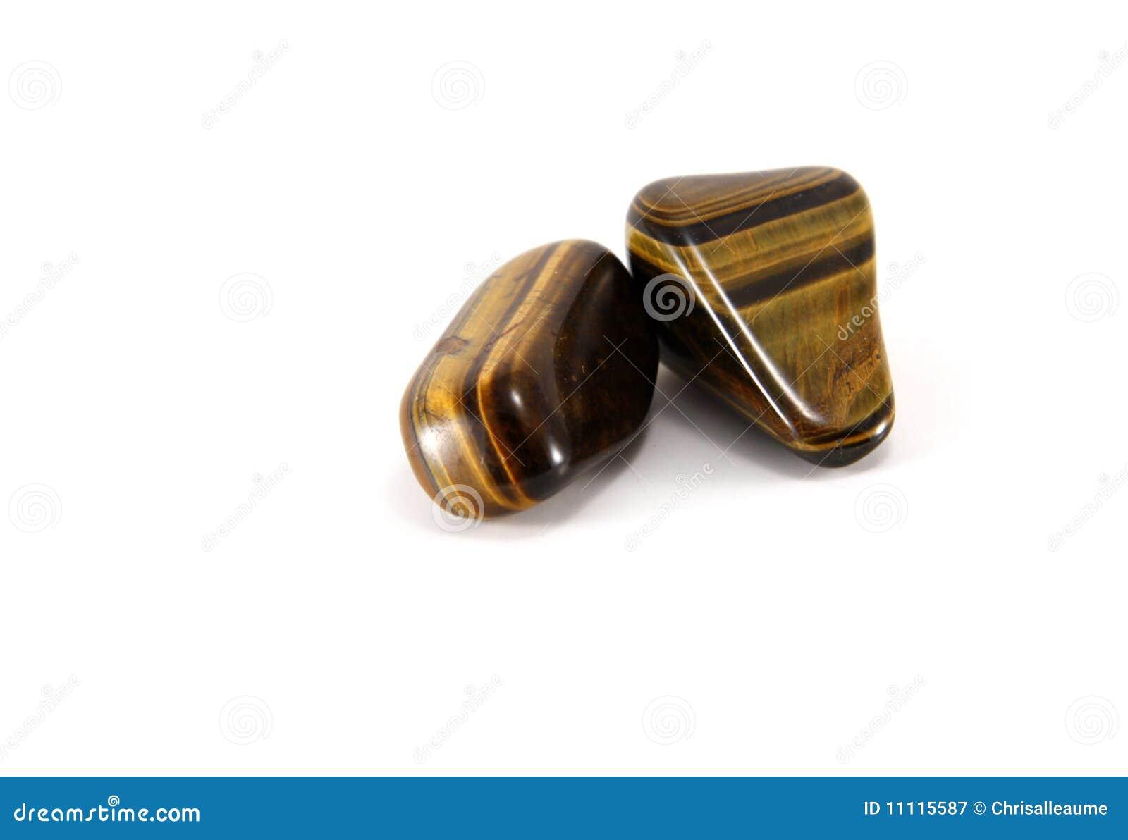 Tigers eye gem stones