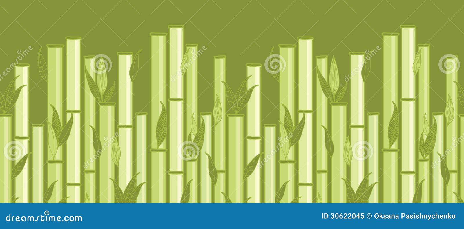 tiges en bambou et sans couture horizontal de feuilles illustration de vecteur illustration du. Black Bedroom Furniture Sets. Home Design Ideas