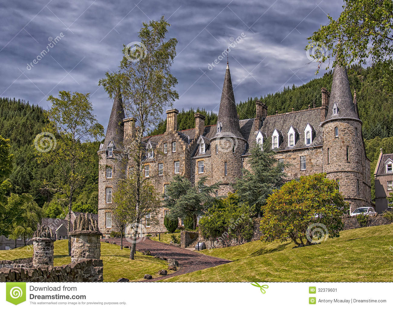 Stock Image Tigh Mor Trossachs Scotland July Facade July Scotland Fully Refurbished Former Hotel Converted Time Share Image32379601 on Luxury Victorian House Plans