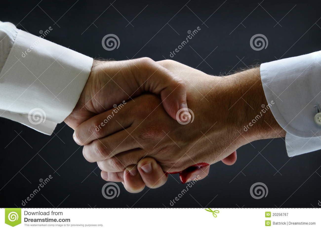 Tight business handshake stock image  Image of drip, background