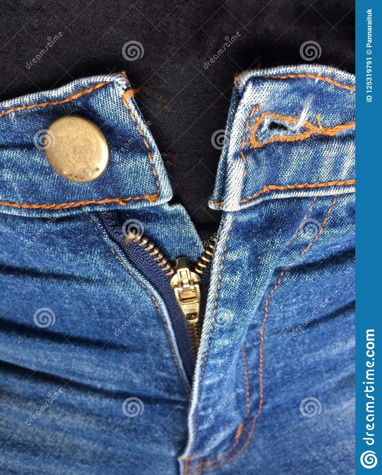 Tight jeans can not button and Zipper not up.