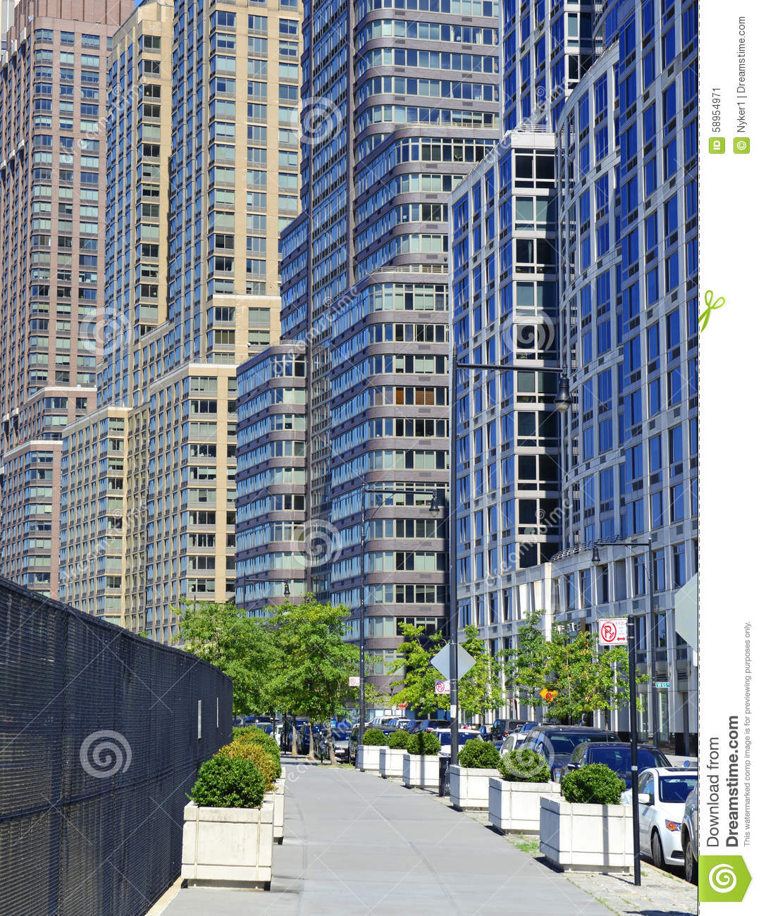 Manhattan Apartments: Tightly Packed High Rise Apartment Buildings, Manhattan