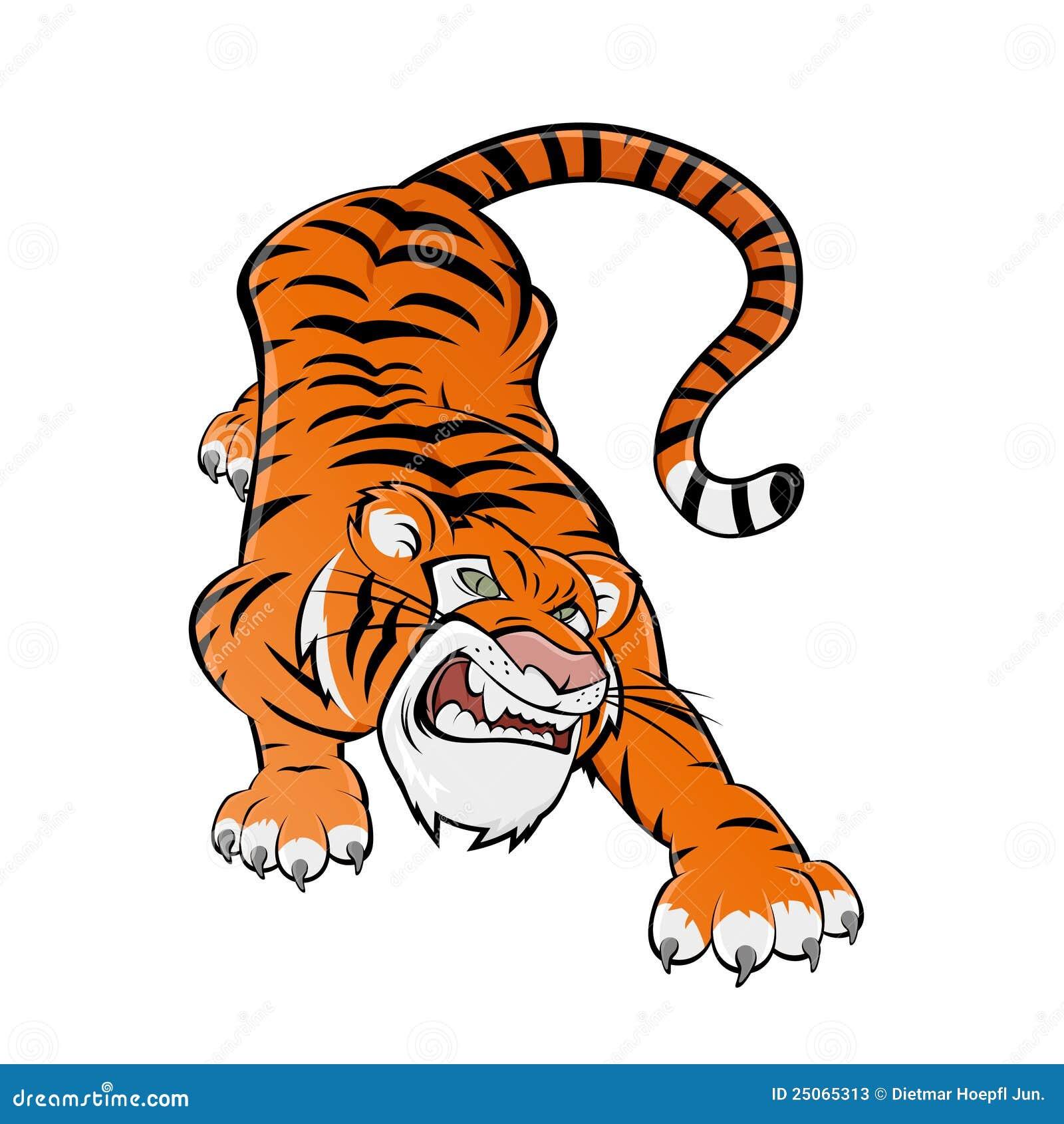 Tigre de dessin anim photos stock image 25065313 - Image dessin tigre ...