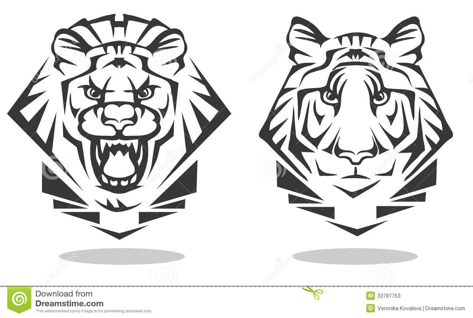 Tigre e leão