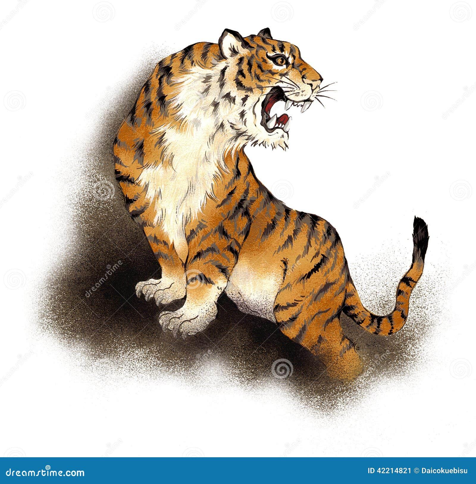 tigre japonais illustration stock image du retrait illustration 42214821. Black Bedroom Furniture Sets. Home Design Ideas