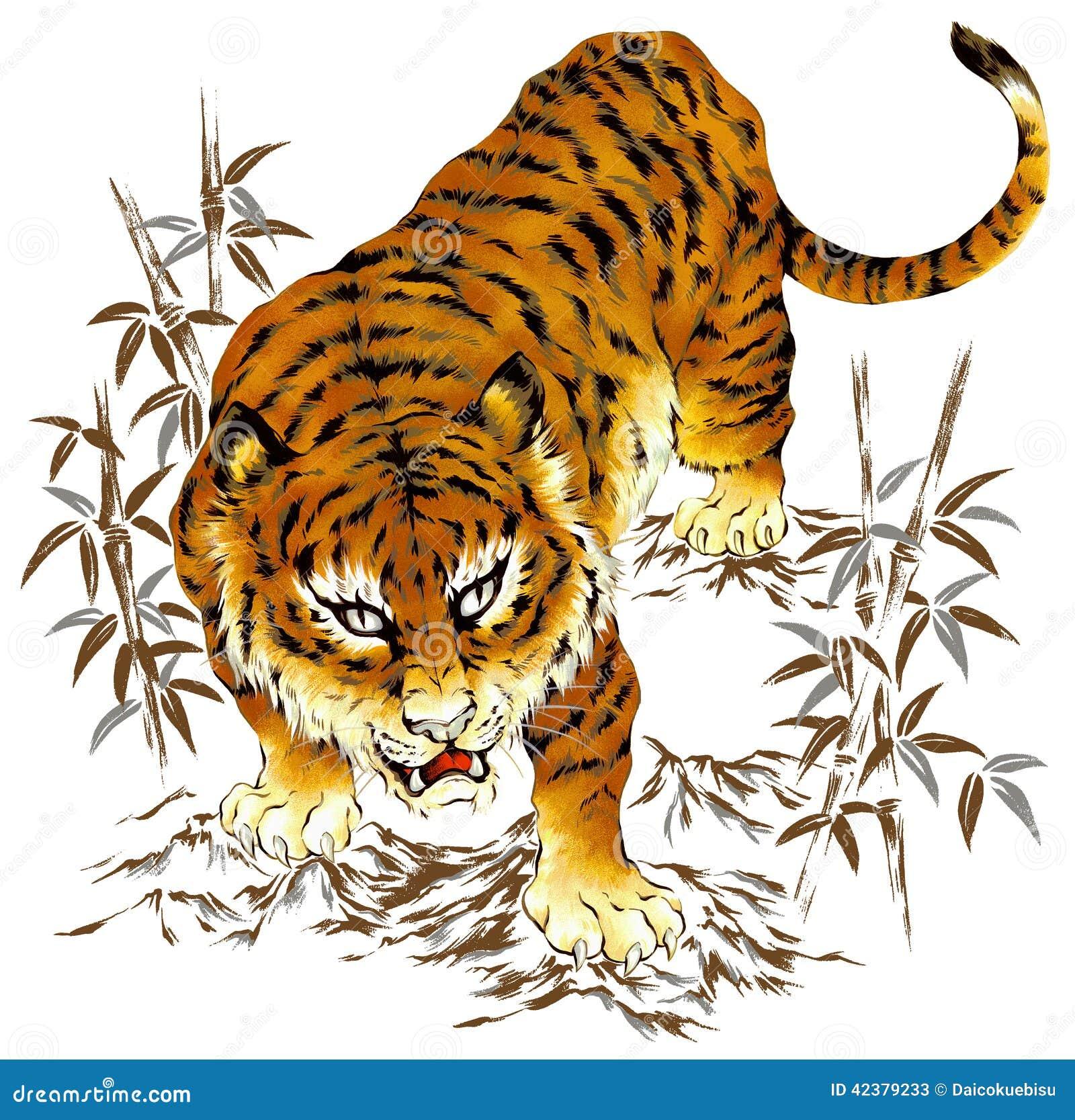 tigre japonais illustration stock image 42379233. Black Bedroom Furniture Sets. Home Design Ideas