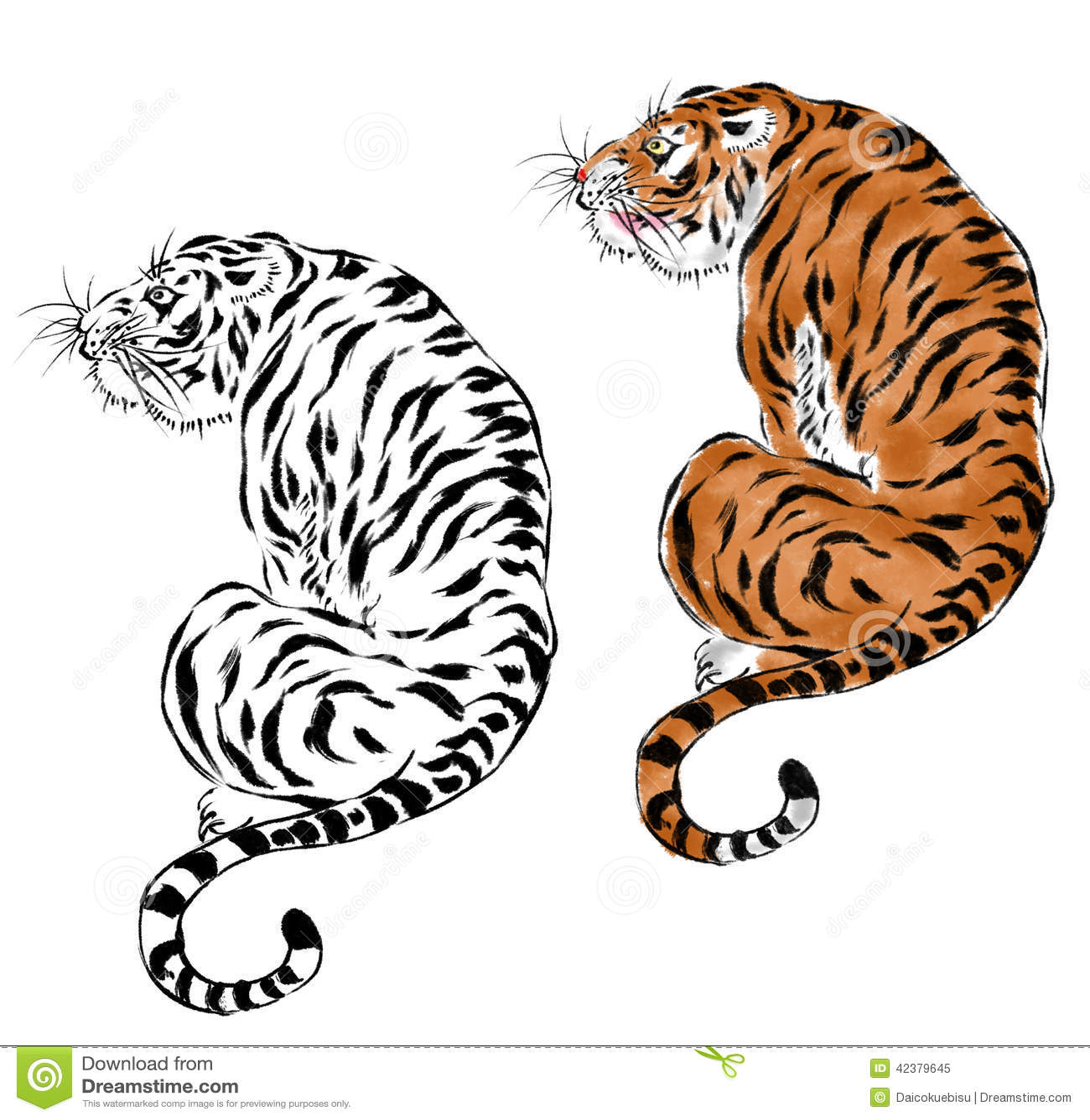 Tigre japonais illustration stock. Illustration du image