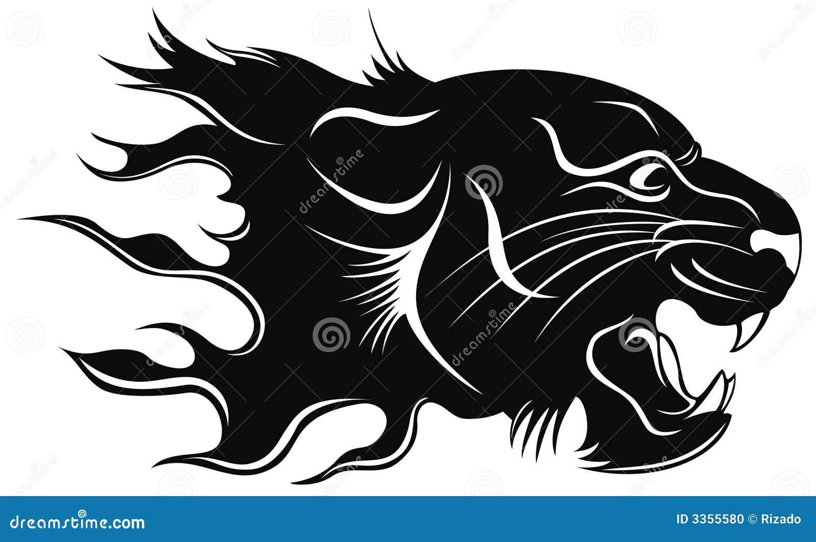 Bien-aimé Tigre noir illustration de vecteur. Image du incendie - 3355580 XI43