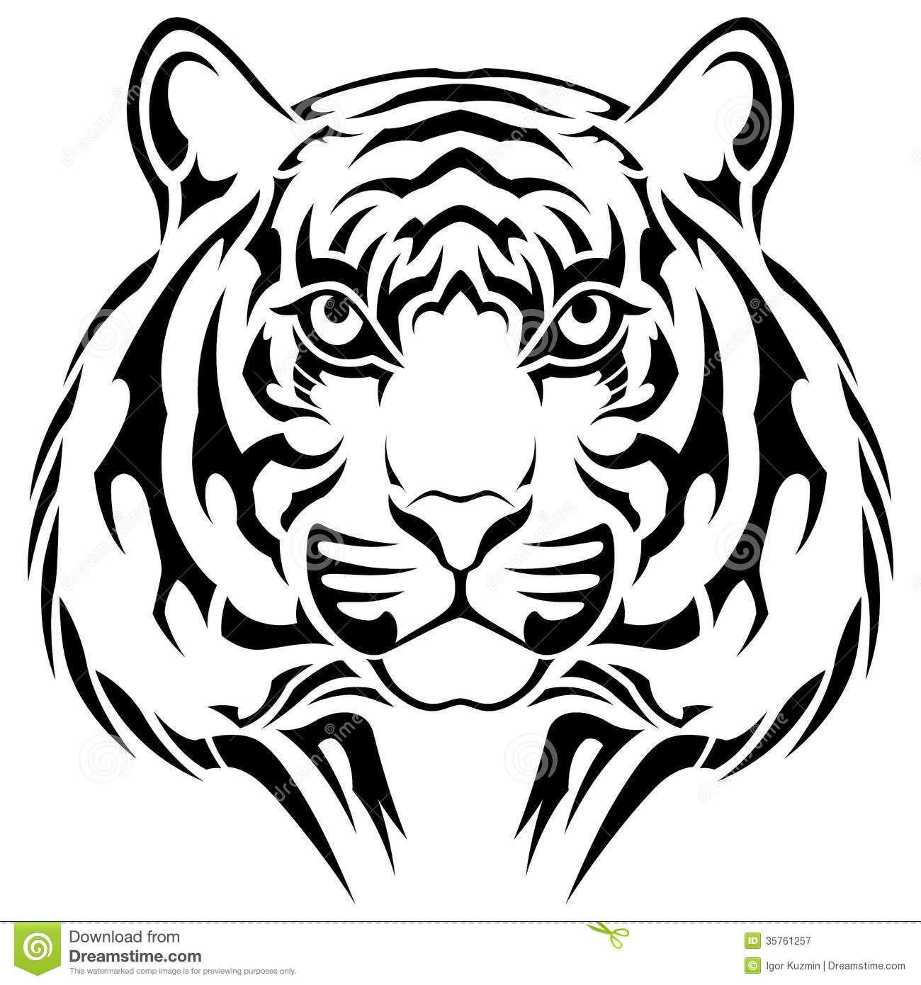 Tigre tatouage tribal photographie stock libre de droits image 35761257 - Tatouage tigre signification ...