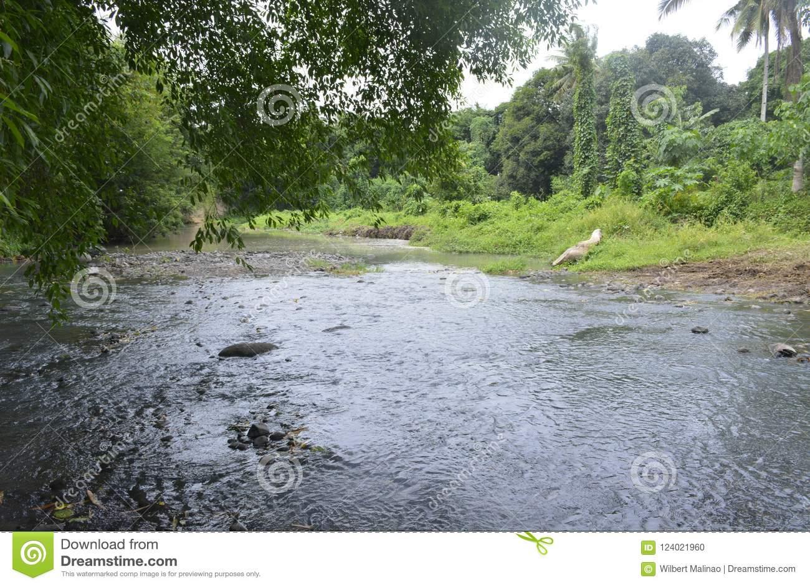 Tiguman-Fluss bei barangay Tiguman, Digos-Stadt, Davao del Sur, Philippinen