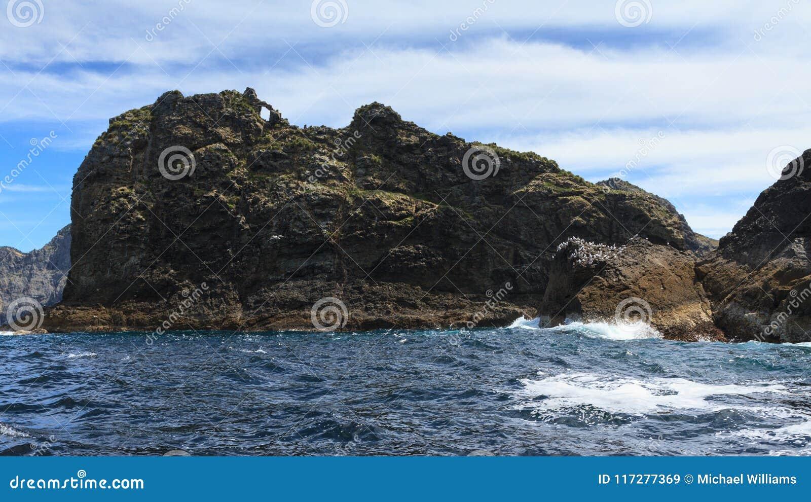 Bay of Islands, New Zealand. Tiny Tiheru Island