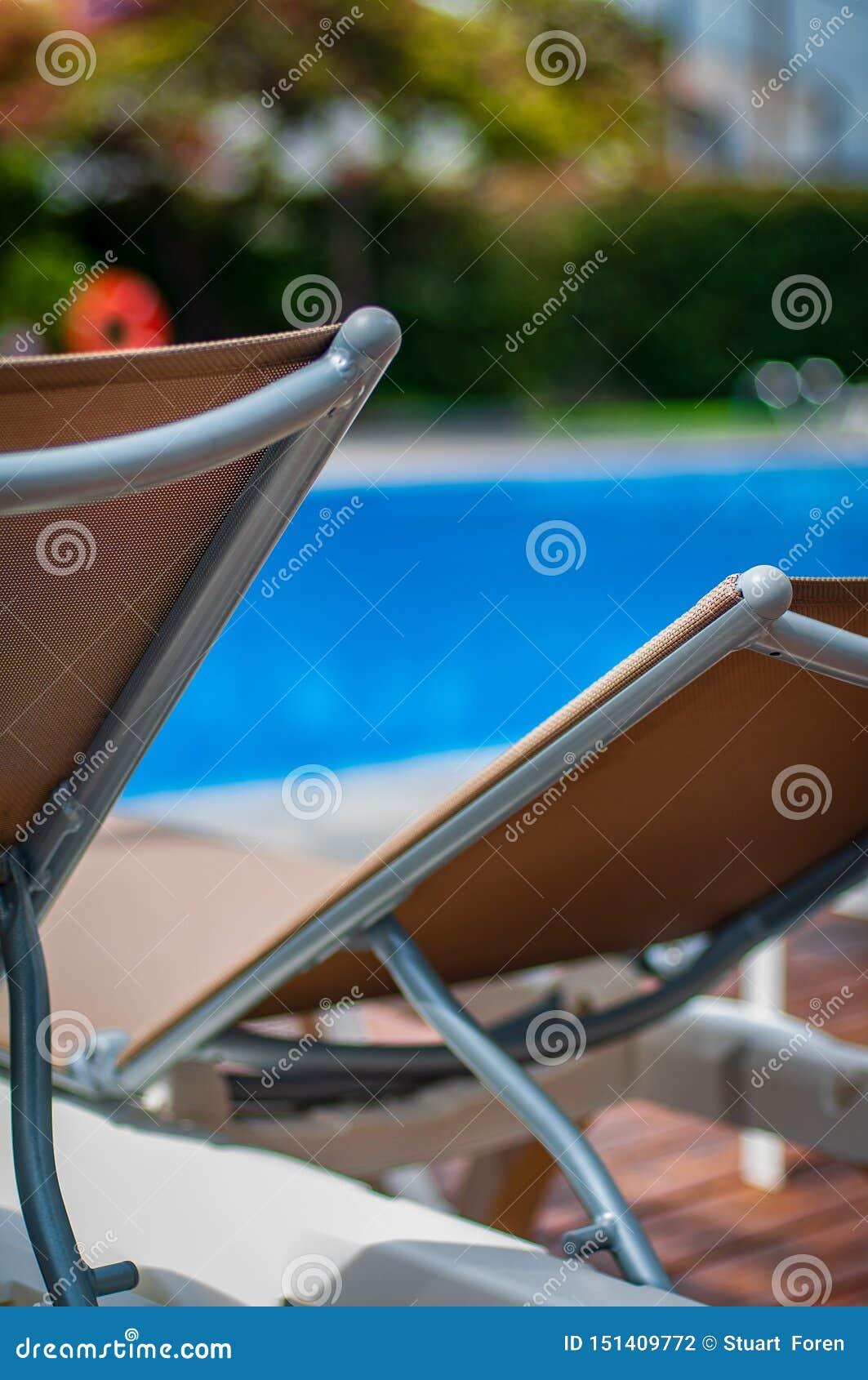 Tijd om door de pool te ontspannen en te koelen