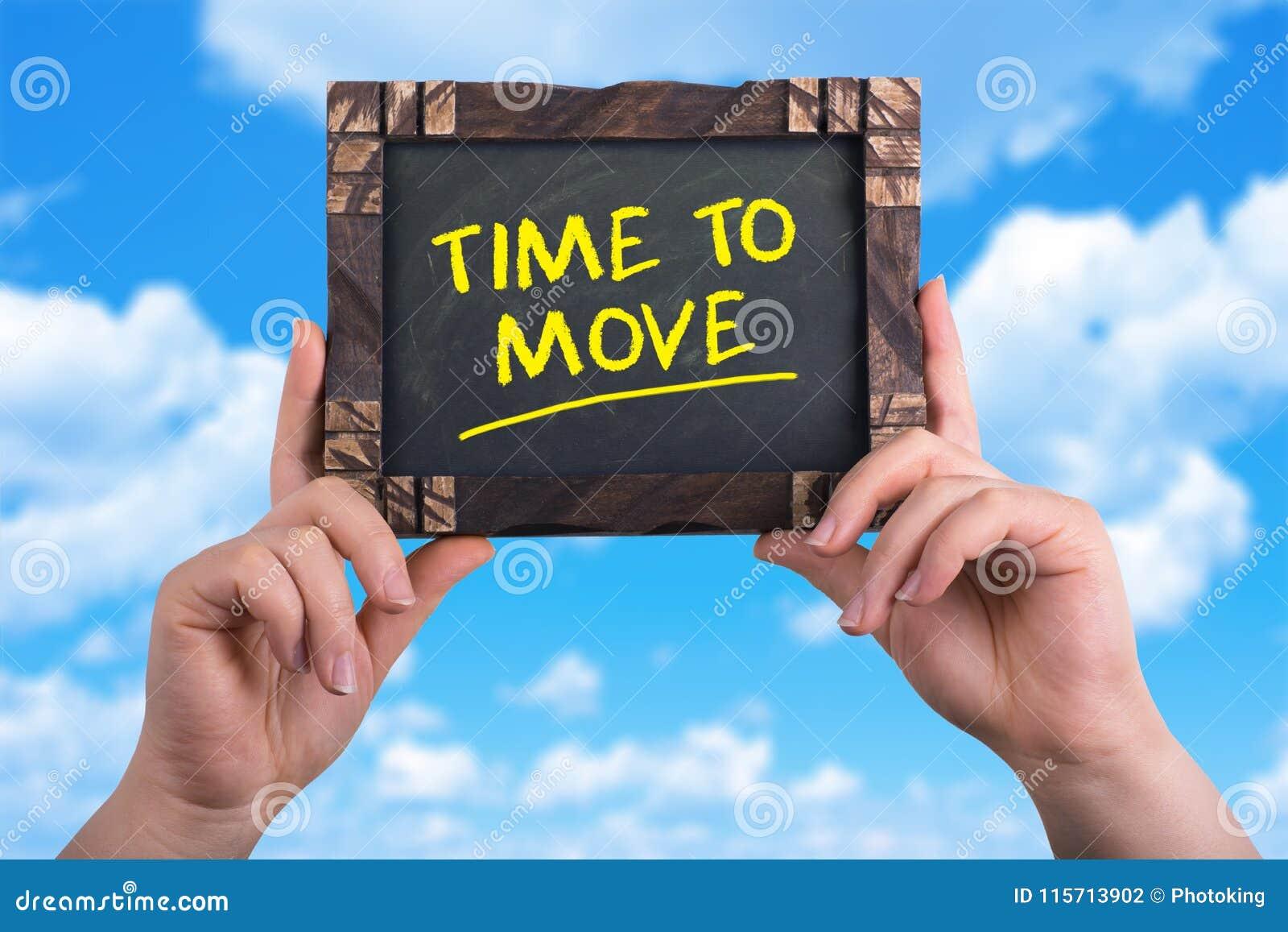 Tijd zich te bewegen