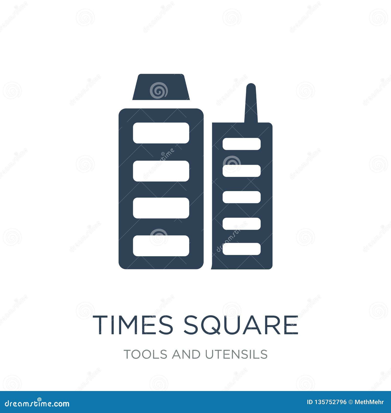Tijden vierkant pictogram in in ontwerpstijl tijden vierkant die pictogram op witte achtergrond wordt geïsoleerd eenvoudig tijden