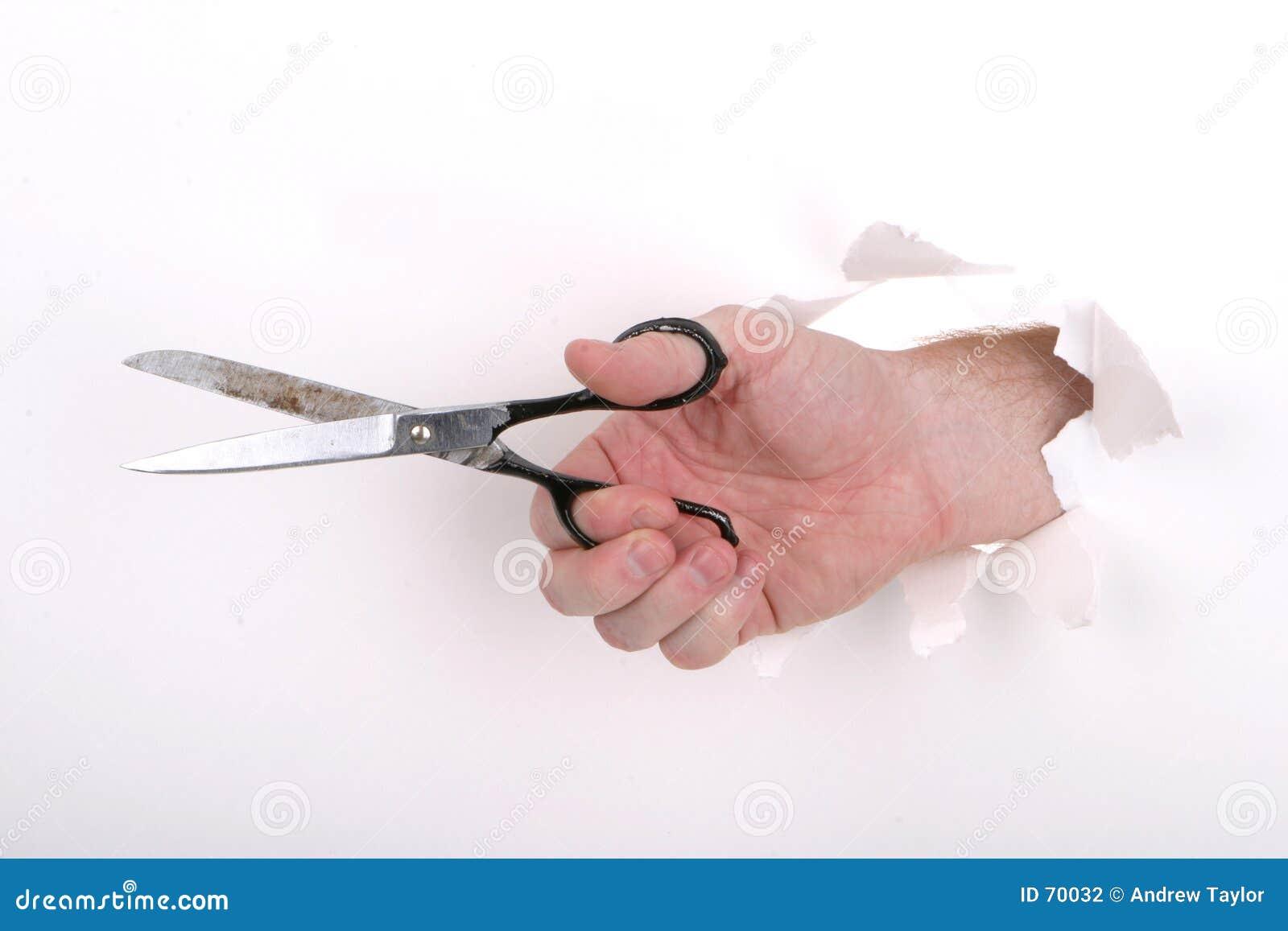 Tijeras de la mano
