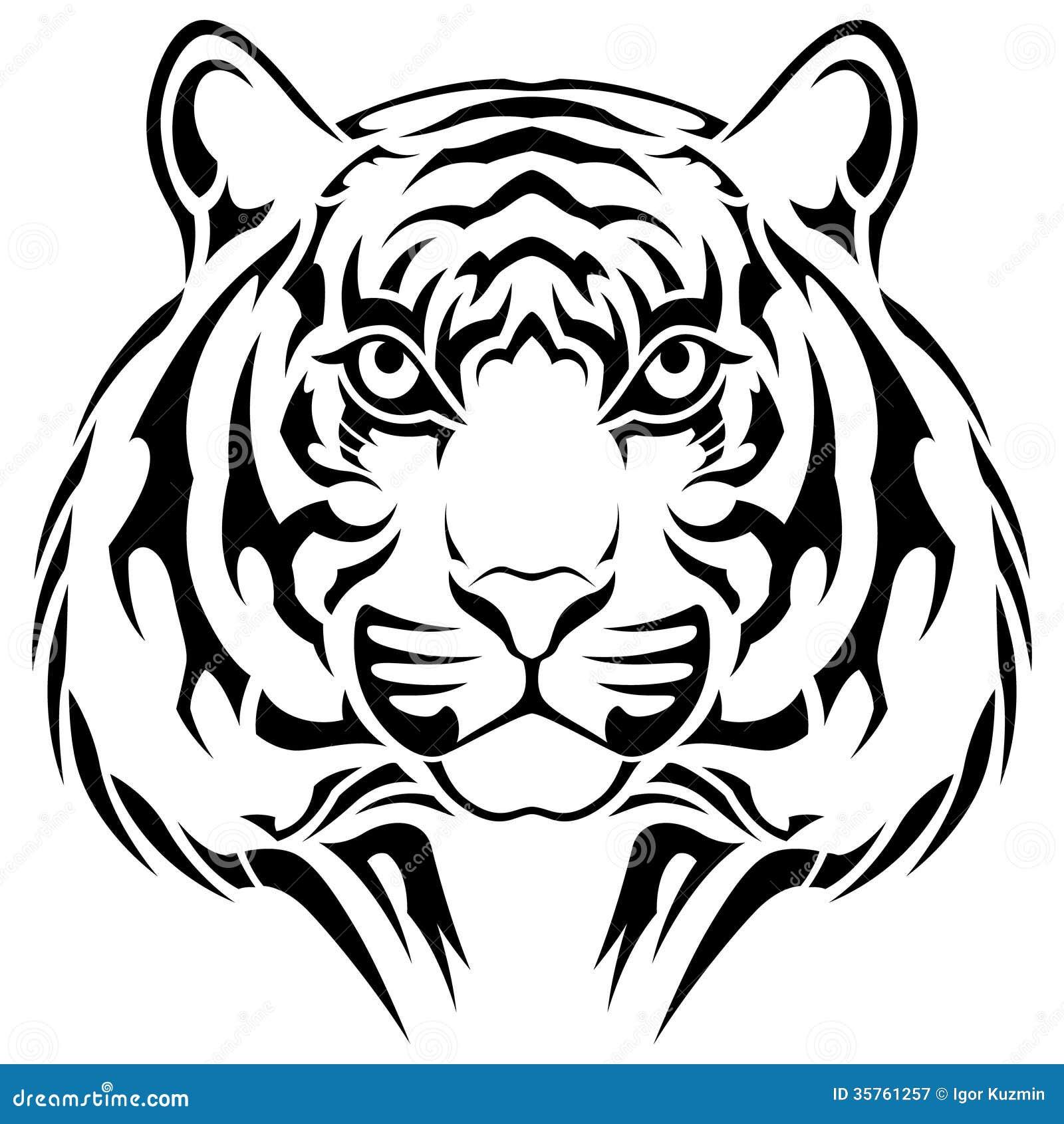 tijger stammentatoegering vector illustratie illustratie