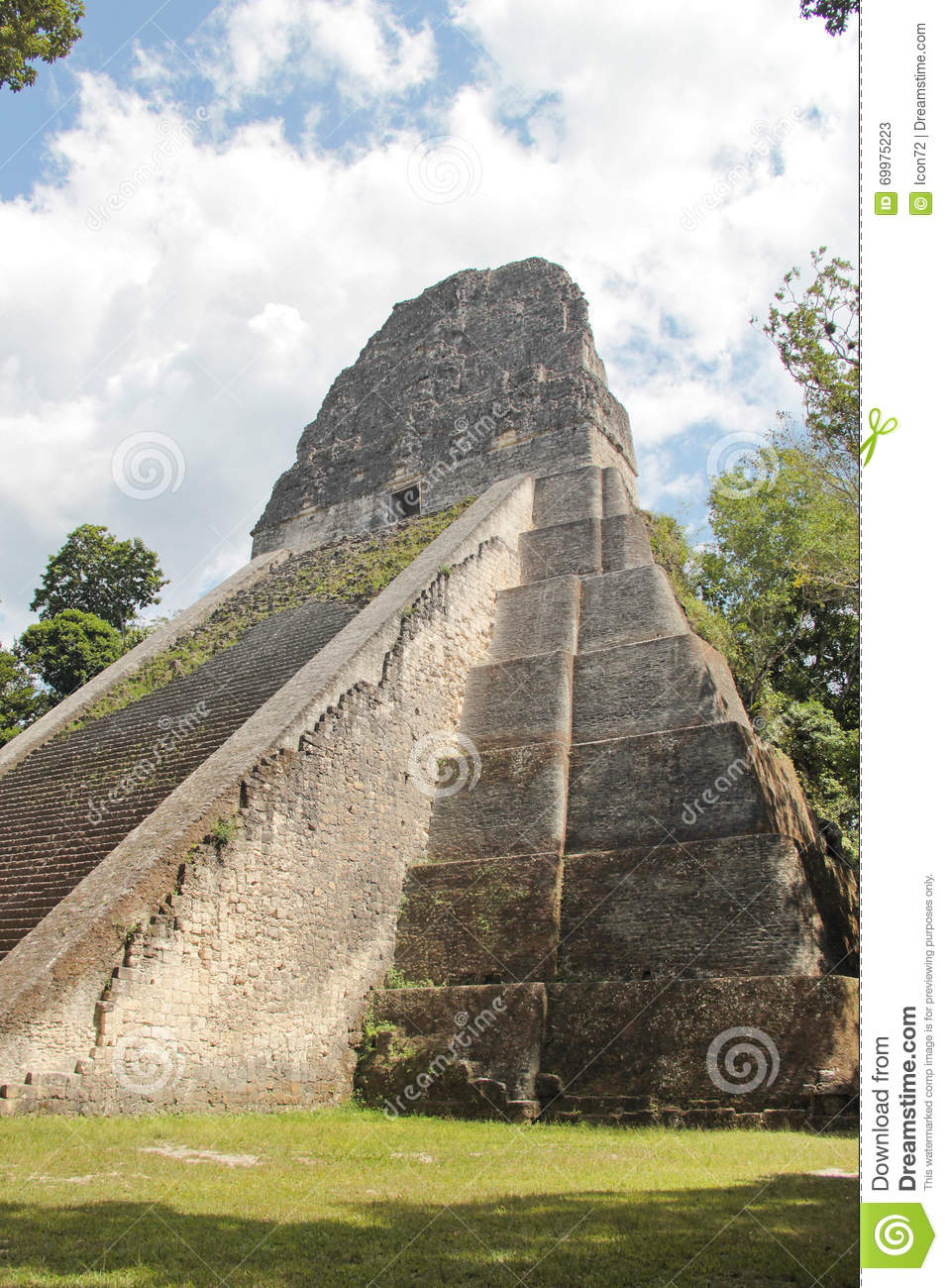 Tikal, Guatemala: Temple V, one of the major pyramids (57 metre