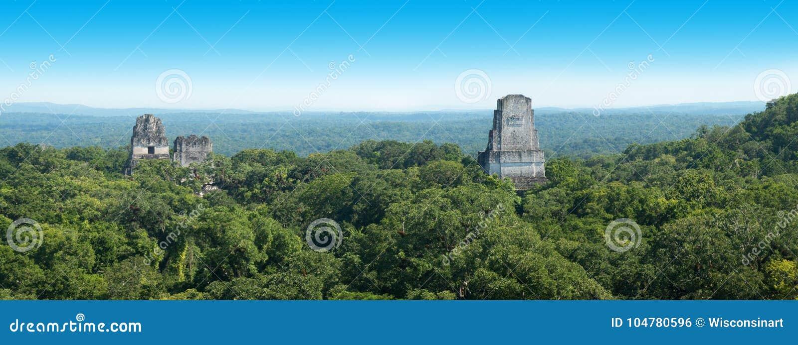 Tikal Majskie ruiny, Gwatemala podróż