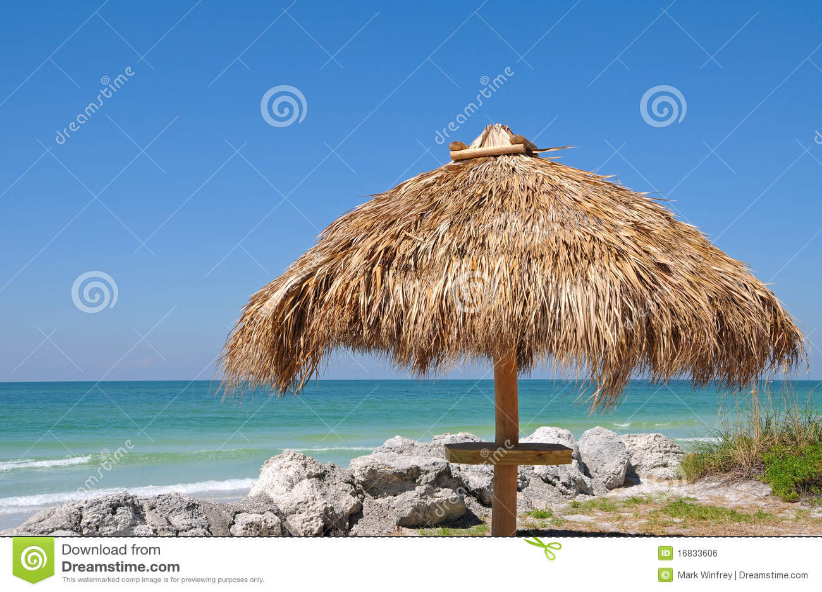 Tiki хаты пляжа