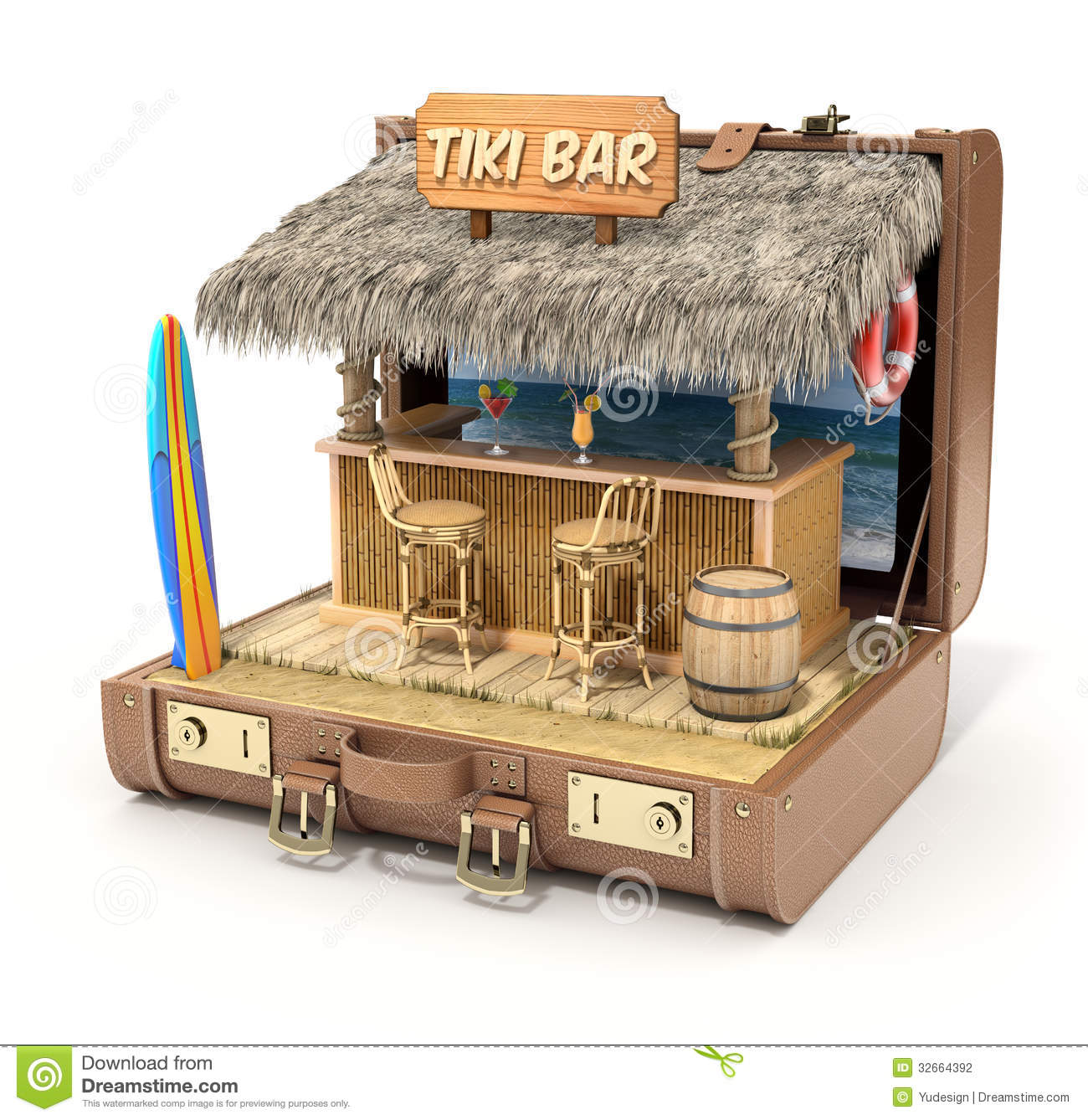 Tiki bar in the case stock photography image 32664392 - Image of bar ...