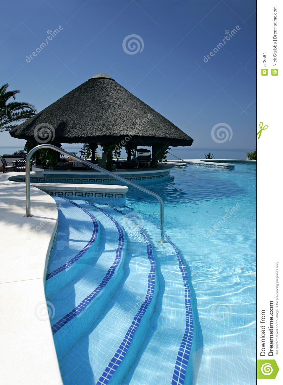 Beach chair beach chair clipart - Tiki Hut And Bar By Swimming Pool Of Luxury Hotel Stock