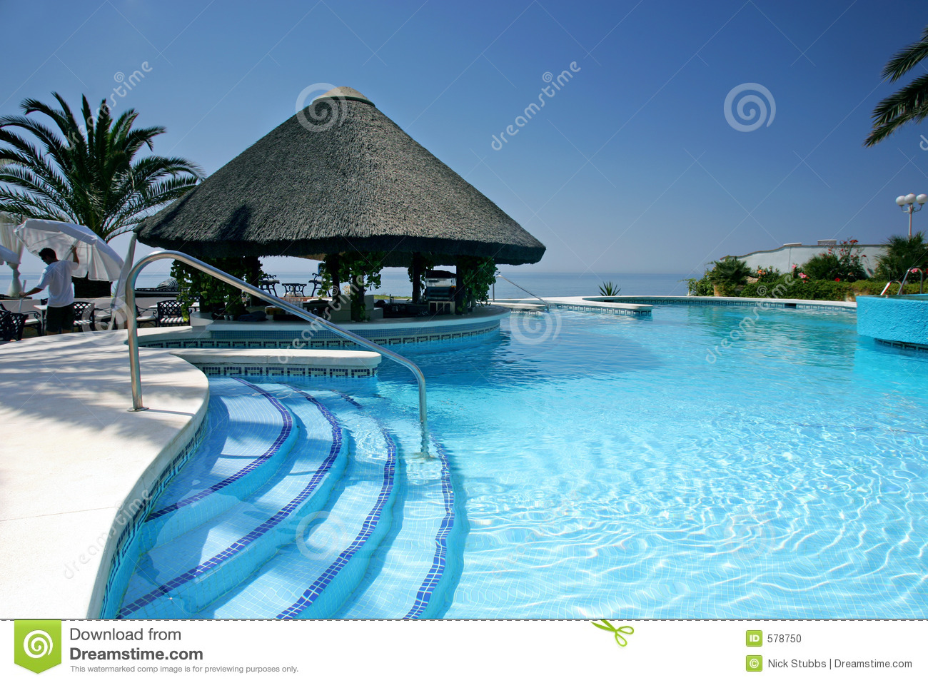 Tiki Hut And Bar By Swimming Pool Of Luxury Hotel Stock Photo Image 578750