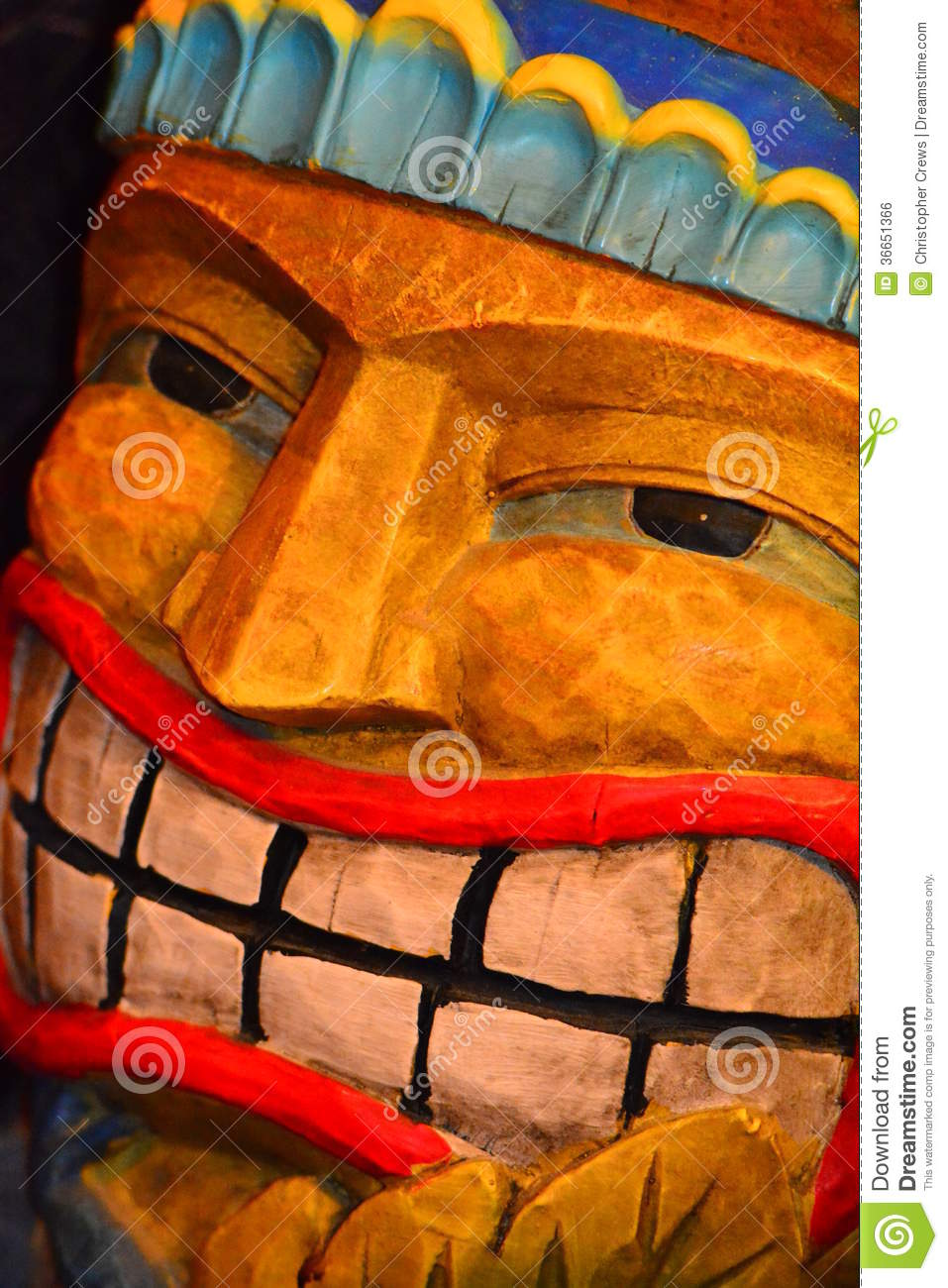 Tiki Man Royalty Free Stock Image Image 36651366