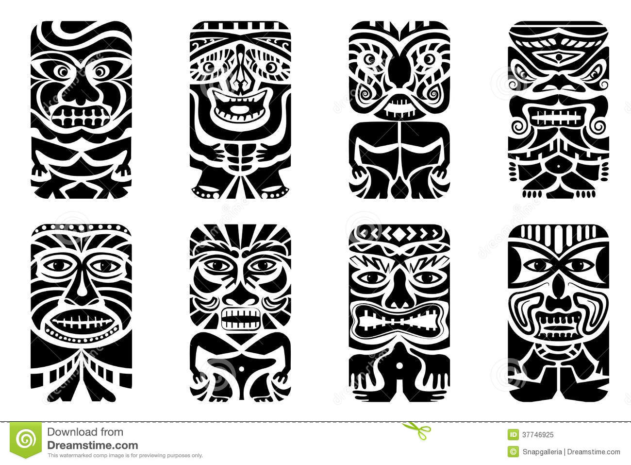 Tiki Mask Photo libre de droits - Image: 37746925