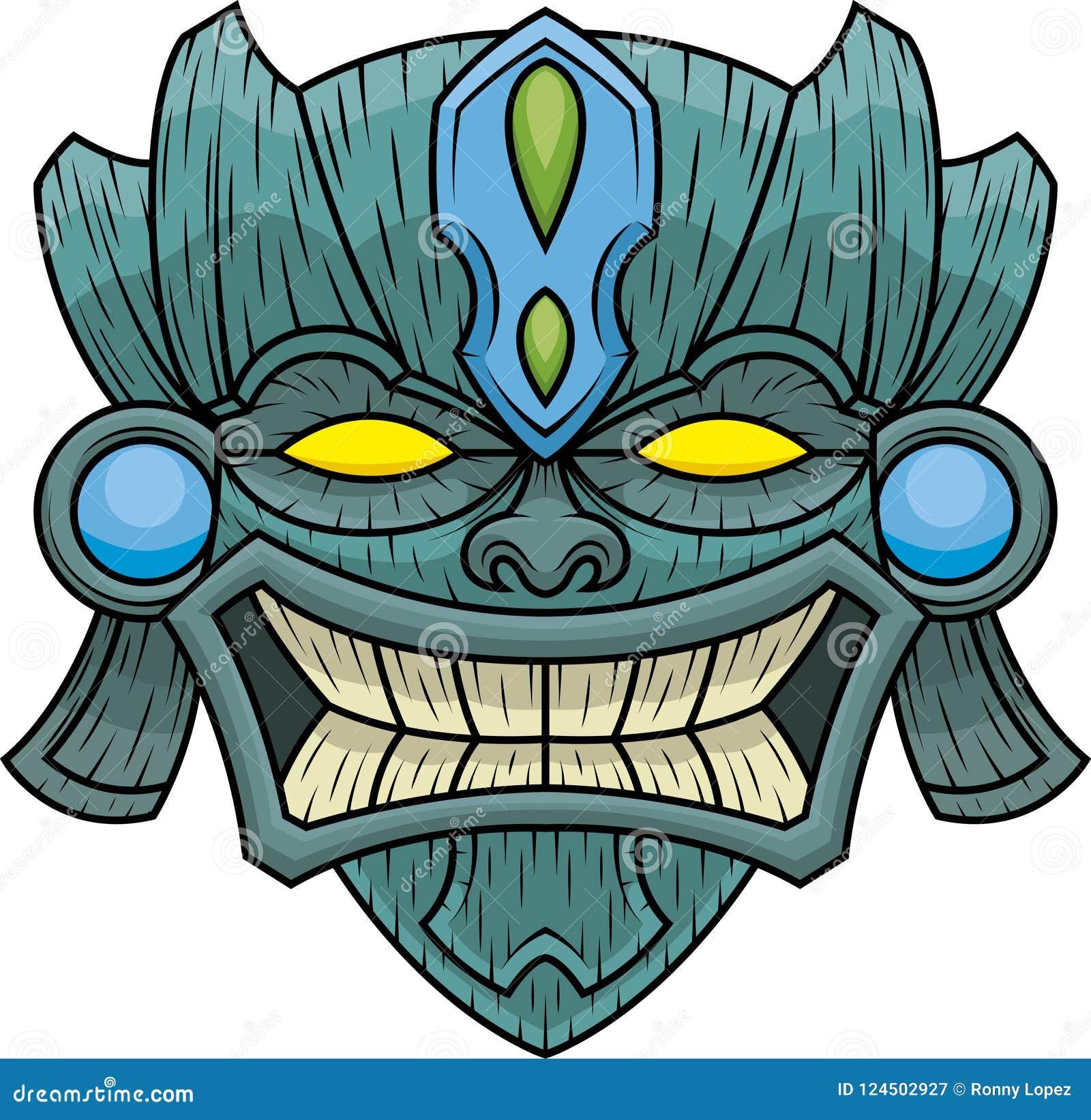 Tiki Mask fifth stock vector. Illustration of hawaii - 124502927