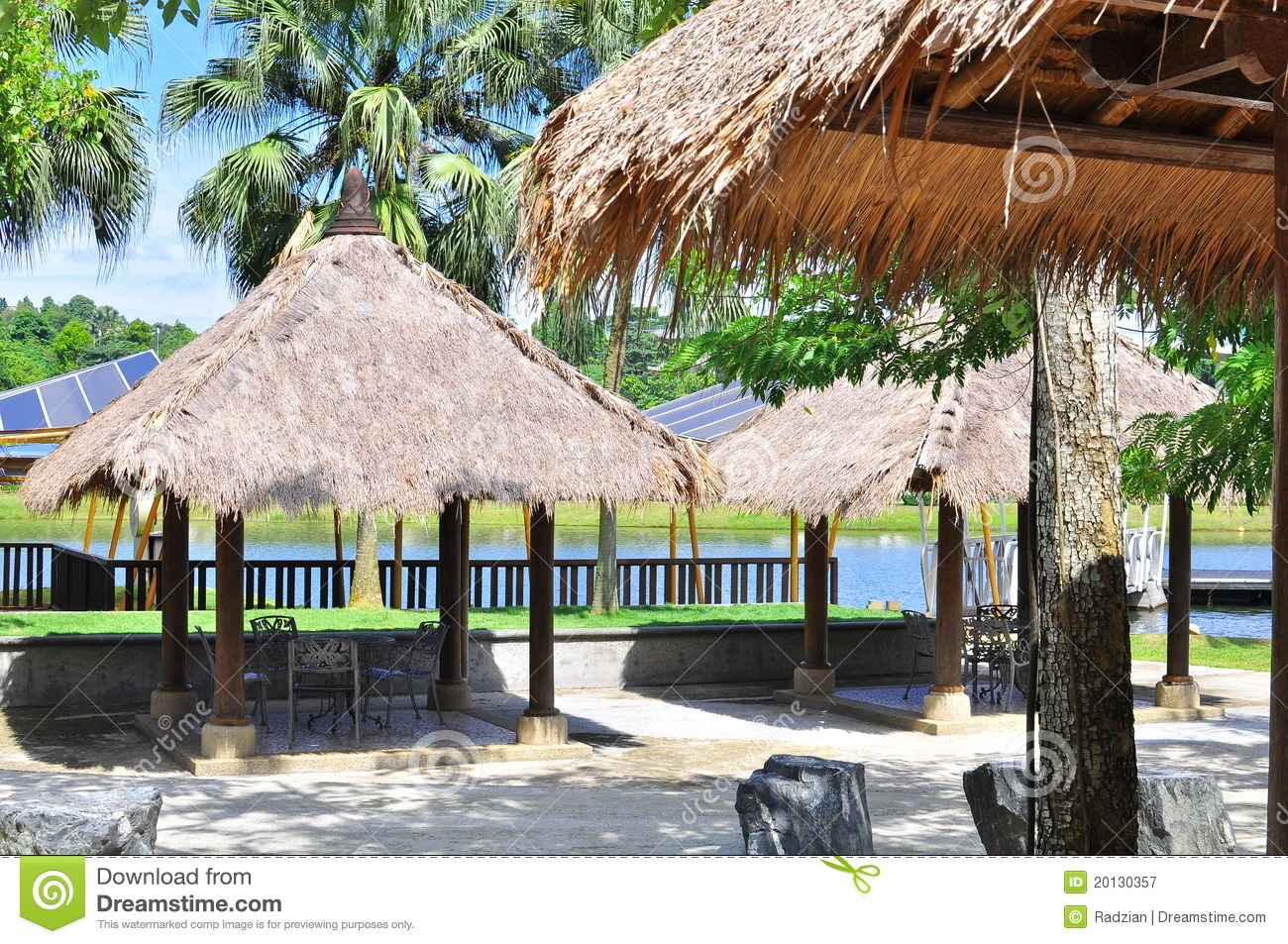 Tiki Tropical Hut Royalty Free Stock Photography Image