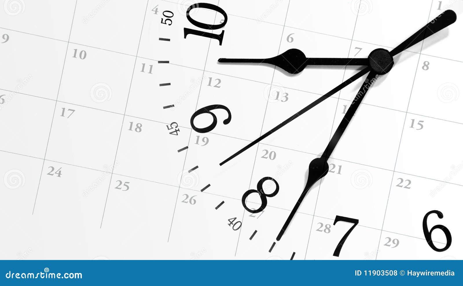 Tikkende Prikklok met Kalender