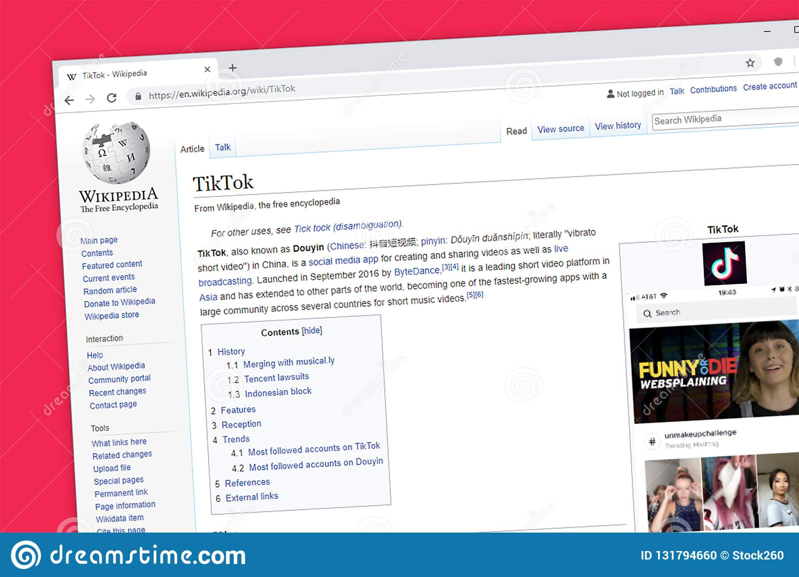 TikTok Including Musical ly App Wikipedia Information Page