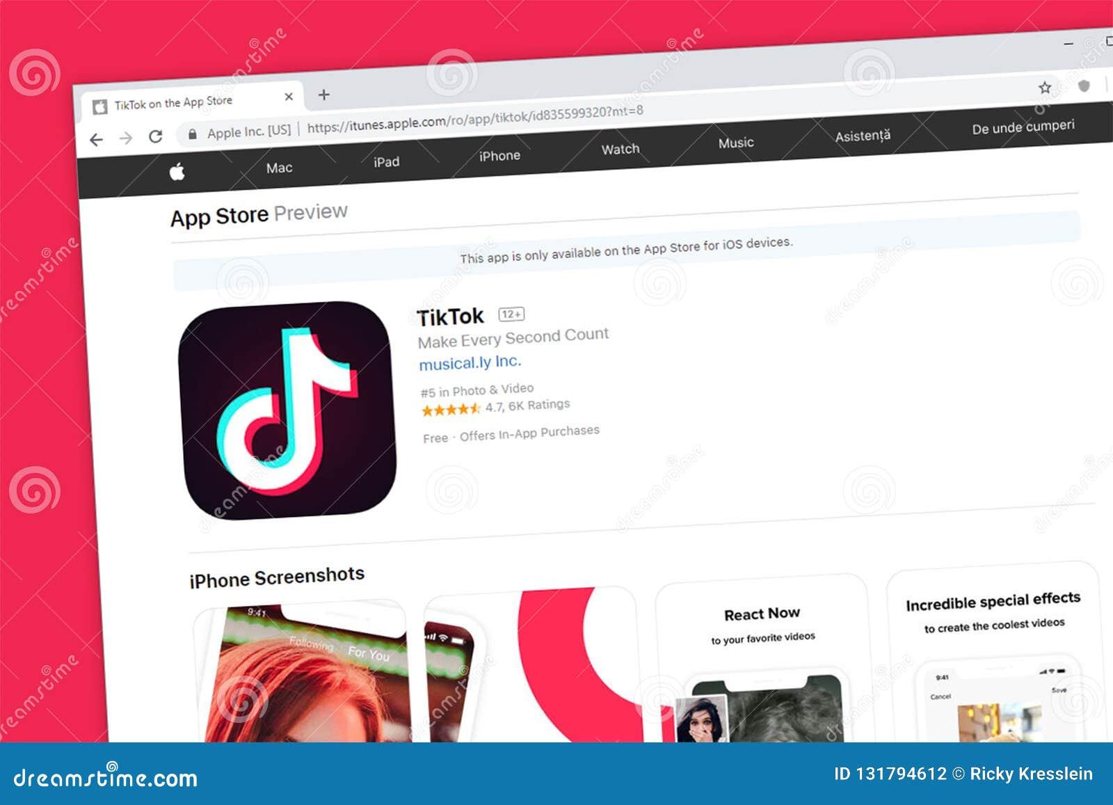 TikTok inklusive musikal Apple för applikation för massmedia för ly-websitehomepage social iOS App Store