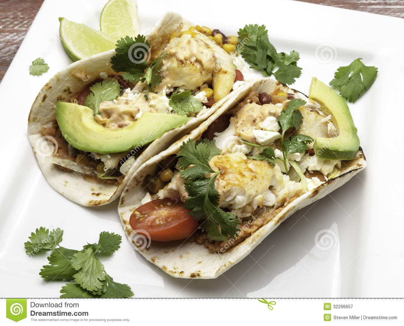 Tilapia Fish Tacos Royalty Free Stock Photography - Image: 32296657