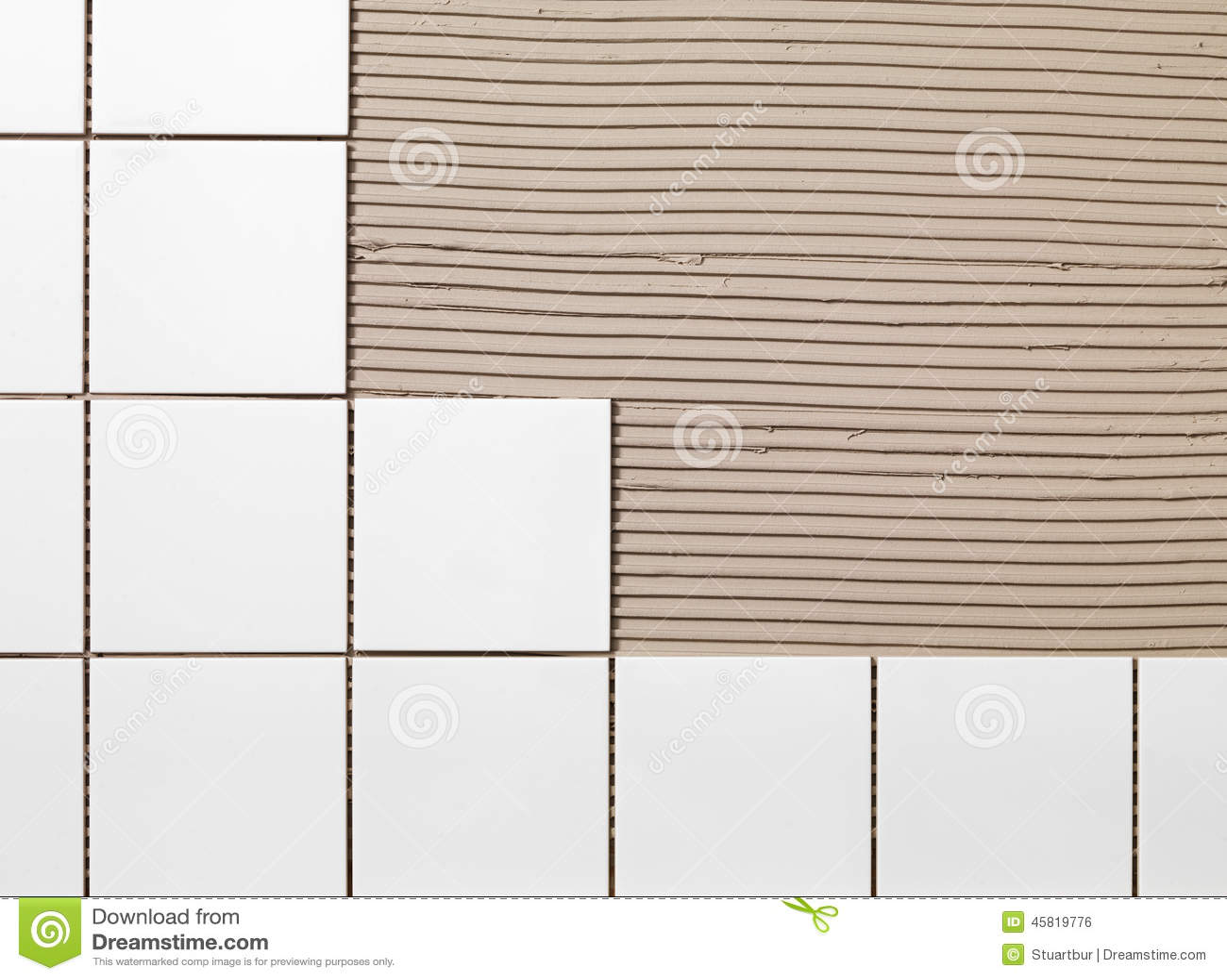 Tile Adhesive stock photo. Image of spatula, white, adhesive - 45819776
