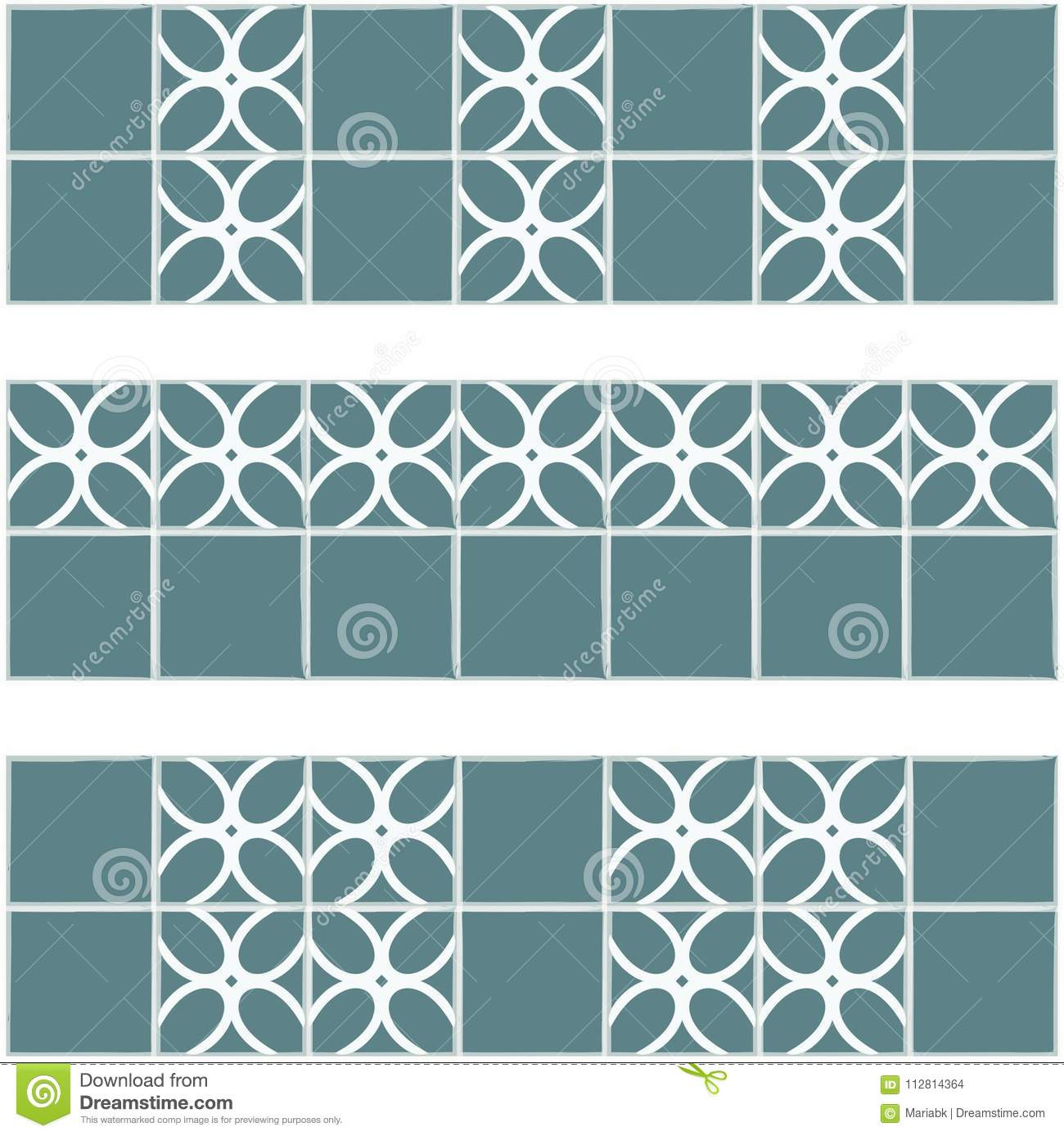 Tile Decoration. Steal Teal Color Or Grey Blue Tiles With Decor ...