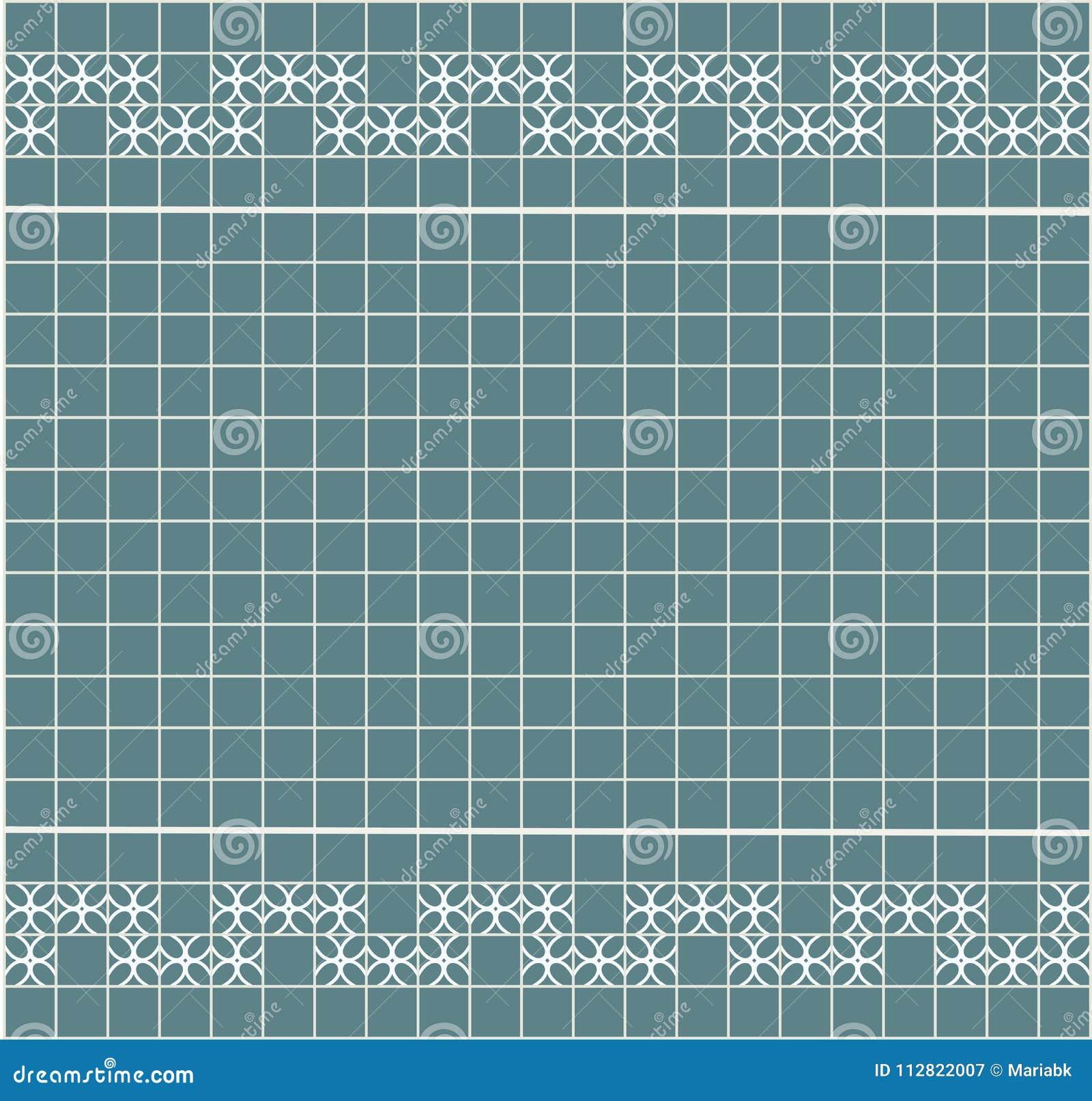 Tile Decoration. Steal Teal Square Tiles With Decor. Interior Design ...