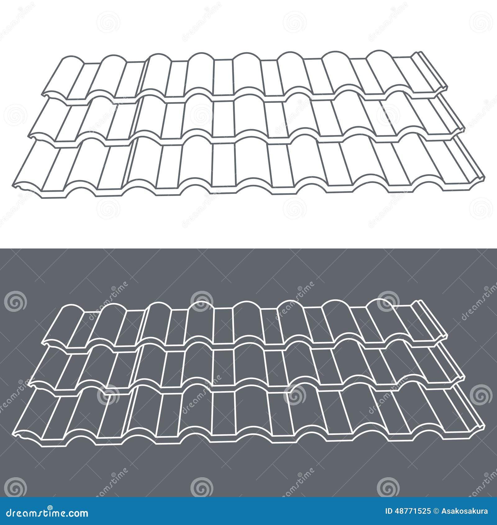 Tile Element Of Roof Eps10 Vector Illustration Stock